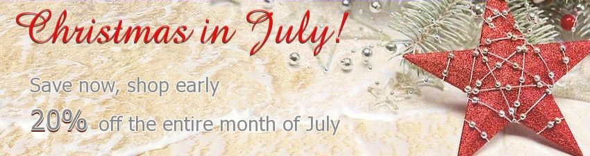 20% off Christmas in July Sale