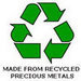 Made from recycled precious metals