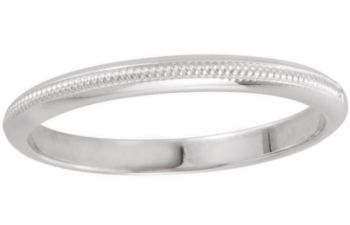 Vintage Style 2.0mm Patterned Coin Edge Wedding Band
