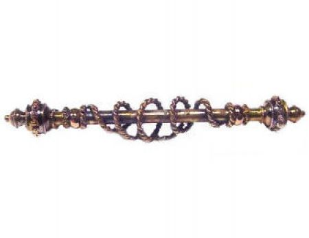 10k Rose Gold Victorian Etruscan Revival Roped Design Bar Pin