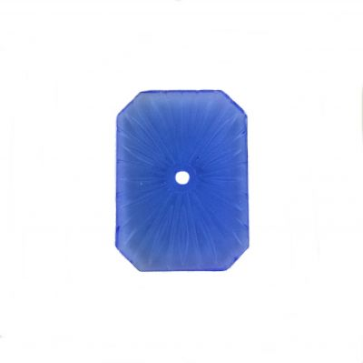 Blue Vintage Camphor Glass 25x18mm | Sunray Crystal | Octagon Shaped Cabochon
