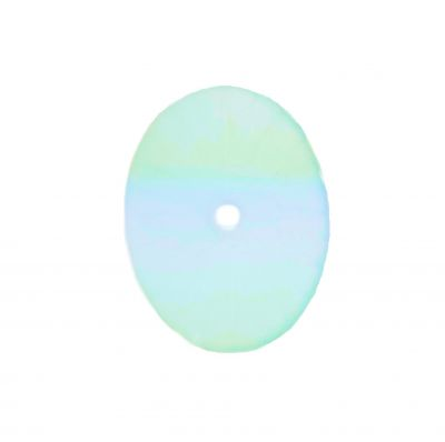 Aqua Vintage Camphor Glass 20x15mm | Sunray Crystal | Oval Shaped Cabochon