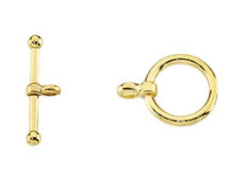 14k Small Toggle Clasp Set