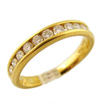 Estate 14k Yellow Gold .50 cttw Channel Set Diamond Wedding Band