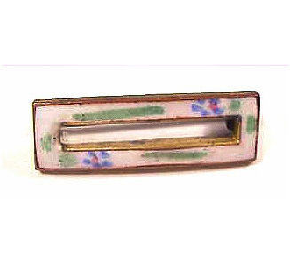 Vintage Floral Enamel Scatter Pin / Doll Pin