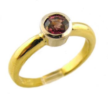 14k Two Tone Gold .33ct Color Change Garnet Ring