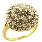 Estate 14k Two Tone Ballerina Style .75cttw Diamond Cocktail Ring