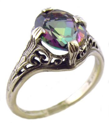 diamond com fire ring amazon silver and accented mystic oval topaz rings jewelry sterling size dp
