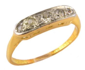 Antique 18k & Platinum .16cttw European & Swiss Cut Diamond Band
