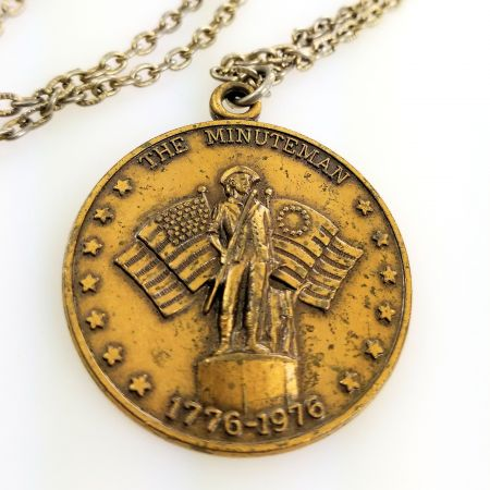 The Minuteman 1776 - 1976 Bicentennial Commemorative Medallion Pendant