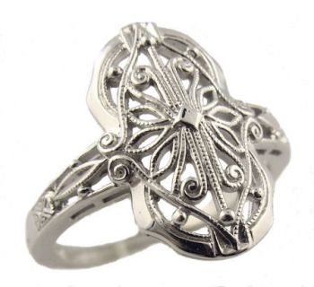 Vintage Style Filigree Ring