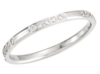 14k Gold Vintage Style 2.0mm Pave' Set .15 cttw Diamond Eternity Band