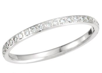 14k Gold Vintage Style 2.0mm Pave' Set .25 cttw Diamond Eternity Band
