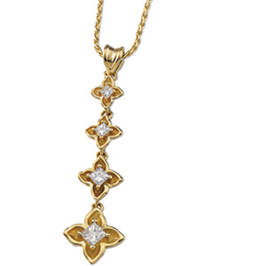 Vintage Style .50cttw Diamond Journey Pendant