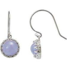 Crown Designed Round Earring Settings with Ear Wires in Sterling Silver