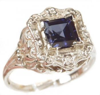 Antique Style Filigree 6x6mm Square Ring Setting
