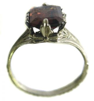 Antique Style Filigree 9x7mm Emerald Shaped Ring Setting