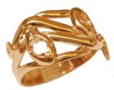 Gents Victorian Style 3.5mm Round Shaped Intertwined Snake Ring Setting
