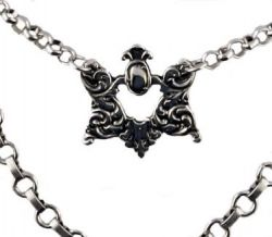 Victorian Style Vienna Pattern Book Chain Necklace