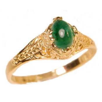Antique Style Filigree 6x4mm Oval Shaped Ring Setting