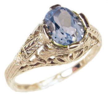 Antique Style Filigree 8x6mm Oval Shaped Ring Setting