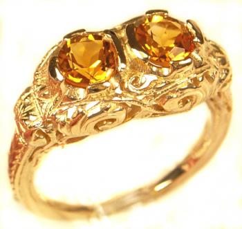 Antique Style Filigree  2) 4.5mm Round Shaped Ring Setting