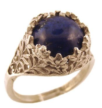 Antique Style Filigree 10.0mm Round Shaped Ring Setting