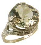 Antique Style Filigree 13.0mm Round Shaped Crown Ring Setting