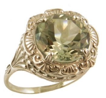 Antique Style Filigree 11.0mm Round Shaped Ring Setting