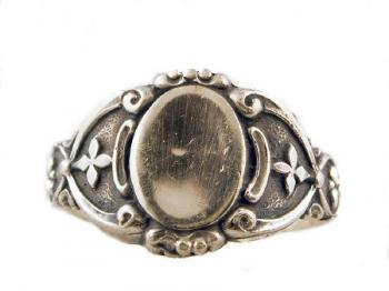 Victorian Style Sterling Silver Signet Ring