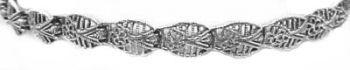 Sterling Silver Antique Style Filigree Link Bracelet