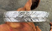 Antique Style 4.7mm Wheat Patterned Wedding Band - Stacking Band in Sterling Silver