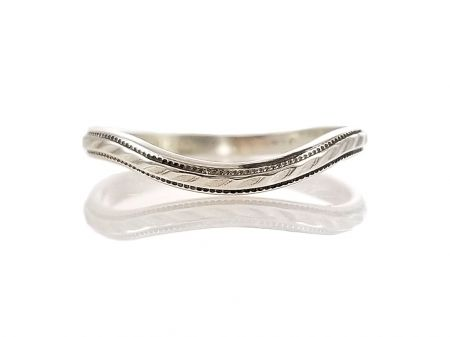 Vintage Style 2mm Rope Pattern Curved Wedding Band | Contoured Band | Sterling Silve