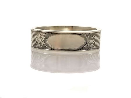 Antique Style 5.5mm Scroll Patterned Engravable Band | Signet Band | Sterling Silver