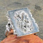 Victorian Style Sterling Silver Floral Bouquet Whimsy Ring