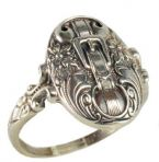 Victorian Style Sterling Silver Buckle Motif Whimsy Ring