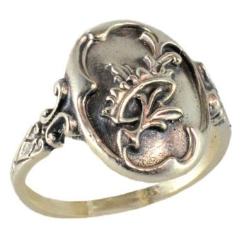 Victorian Style Crown w/ Olive Branch Whimsy Ring