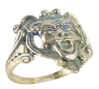 Victorian Style Sterling Silver Mythical Satyr Creature Whimsy Ring