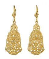 Antique Style Filigree Drop Earrings