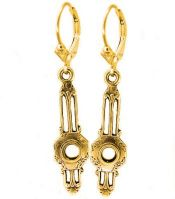 Art Deco Style Filigree Earring Settings - 3.5mm Round Stones