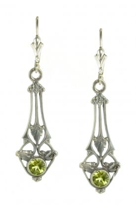 Art Nouveau Style Sterling Silver Filigree Earring Settings - 4.5mm Round Stones