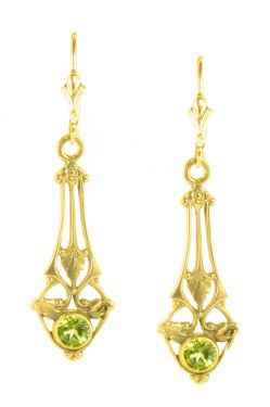 Art Nouveau Style Filigree Earring Settings - 4.5mm Round Stones
