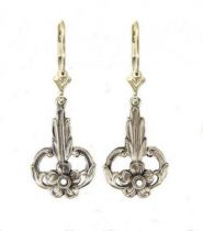 Art Nouveau Style Floral Filigree Earring Settings | 2.5mm Round | Sterling Silver