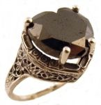 Antique Style Filigree 12x12mm Heart Shaped Ring Setting