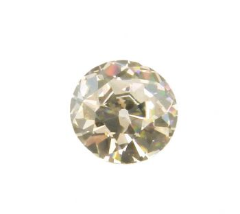 Old European Cut Cubic Zirconia - Light Champagne Tone CZ