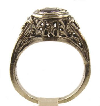 antique style sterling silver filigree 4 0mm ring