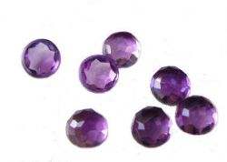 Antique Rose Cut Amethyst - 6.0mm Loose Round Gemstone