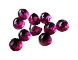 Antique Rose Cut Rhodolite Garnet - 6.0mm Loose Round Gemstone
