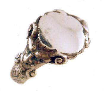 Victorian Style Sterling Silver Gothic Gargoyle Signet Ring