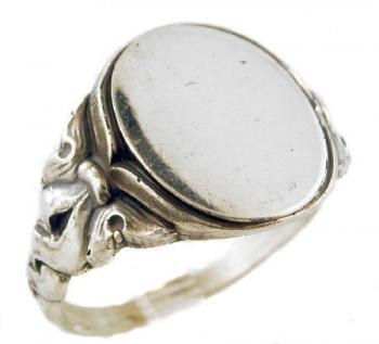 Victorian Style Sterling Silver Gents Signet Ring